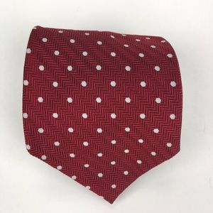 Ralph Lauren Red White Polka Dot Men's Necktie 👔